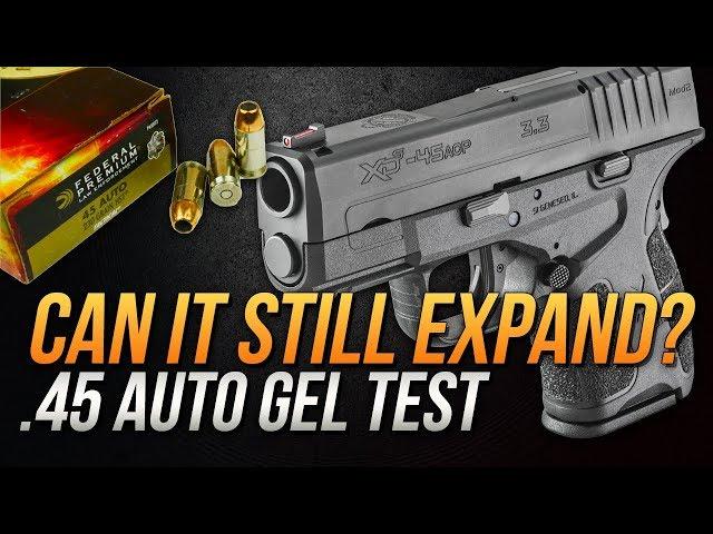 Can it still expand? .45 Auto Federal 230gr HST Short Barrel Gel Test