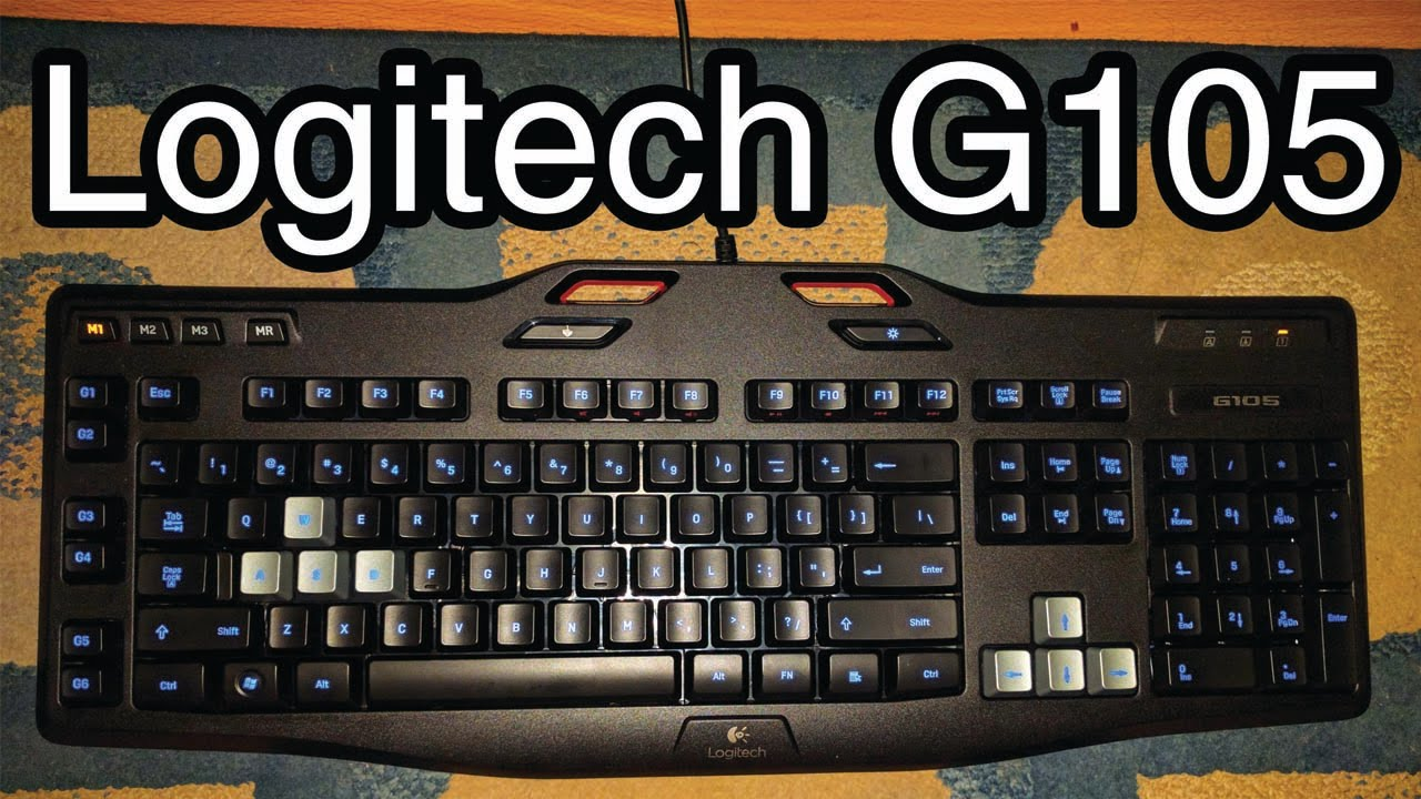 Logitech G105 Keyboard Typing and Software Overview