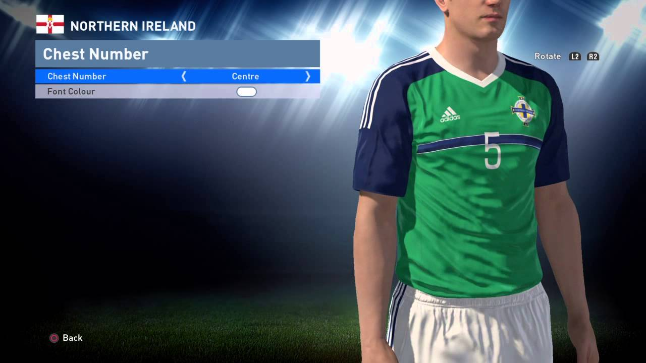 PES World PES 2016 Northern Ireland Euro 2016 kit instructions
