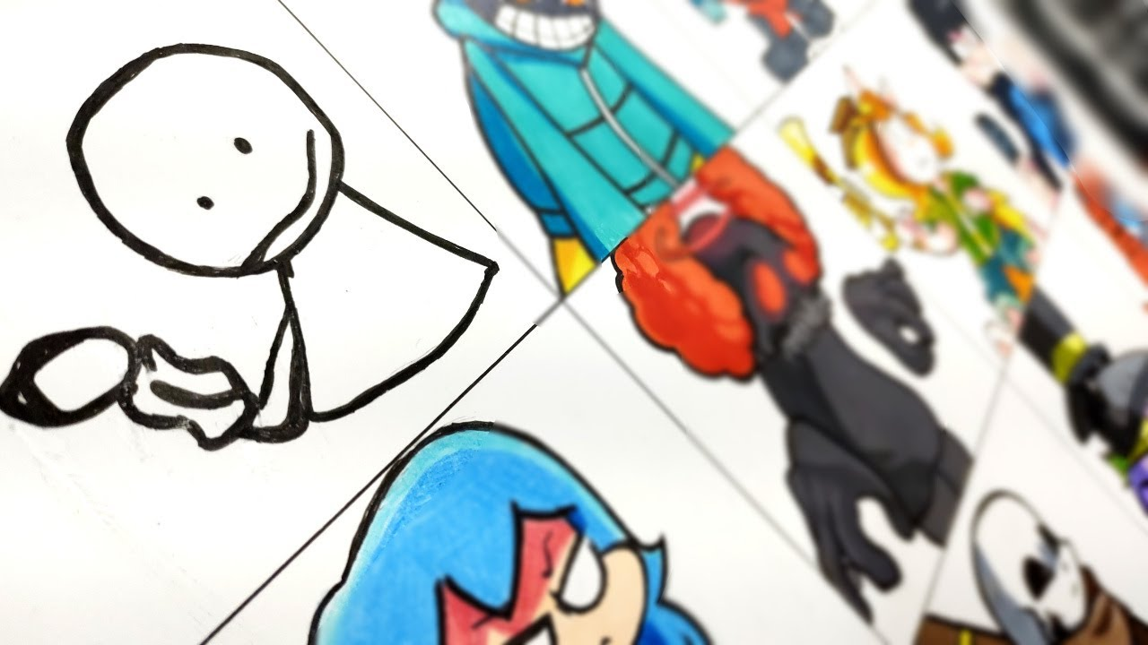 Desenhando Mods FRIDAY NIGHT FUNKIN PARTE 3
