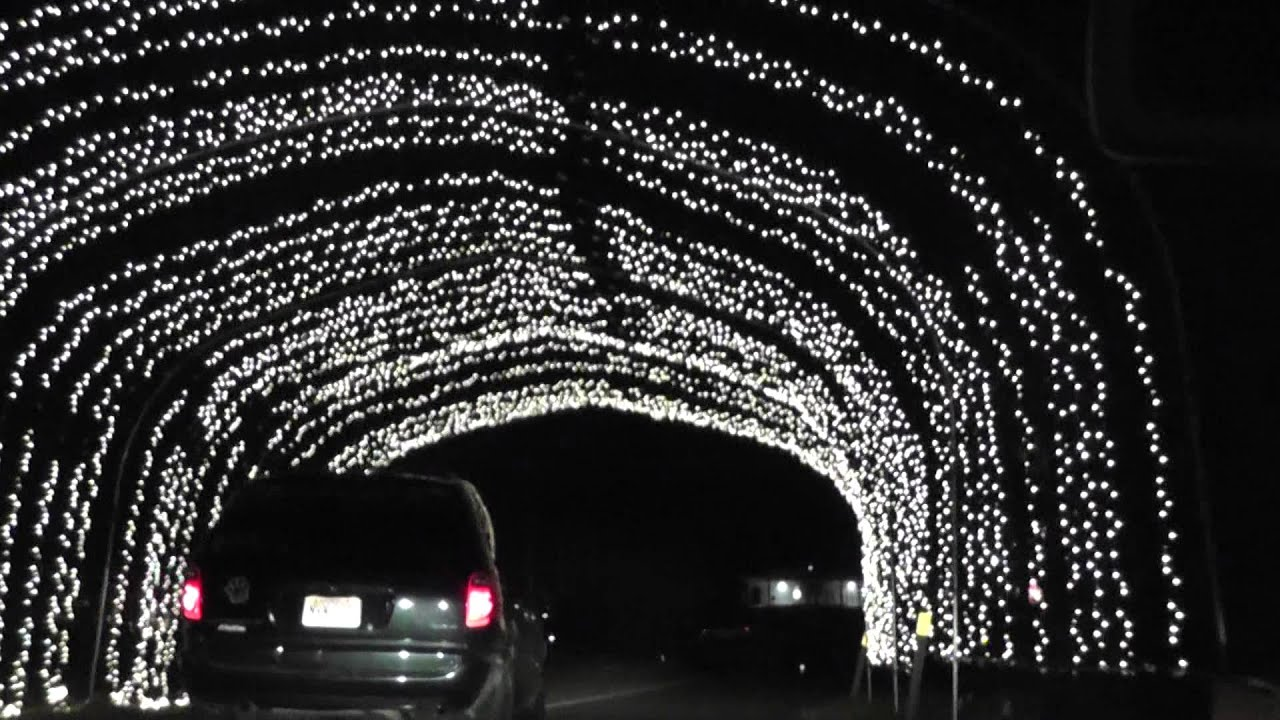 Christmas Lights At Pnc Arts Center New Jersey Youtube