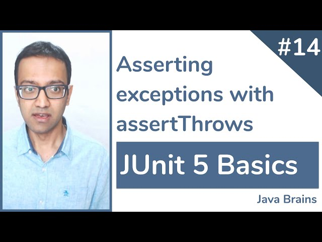 JUnit 5 Basics 14 - Asserting exceptions with assertThrows