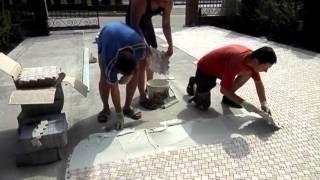Укладка мозаики(65 метров квадратных за день., 2013-09-03T19:06:20.000Z)