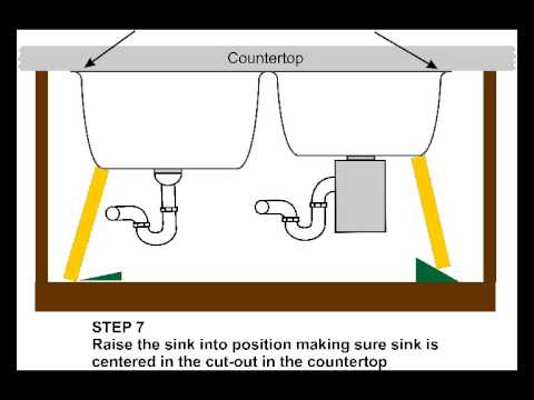 Undermount Bathroom Sink Clips e-clips undermount sink clip kit installation - youtube