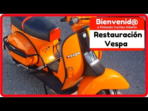 Como resturar una moto youtube for Vespa decoracion
