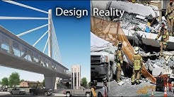 Sweetwater Pedestrian bridge Florida collapse , before and after , design and fall, travel
