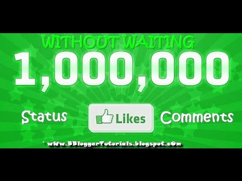 Get Unlimited LIKES on Facebook Status & Comments For Free [2015 HD]