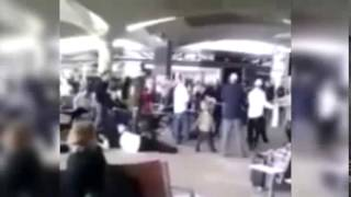 Hassidic Jews Dance at Queen Alia Airport in Jordan