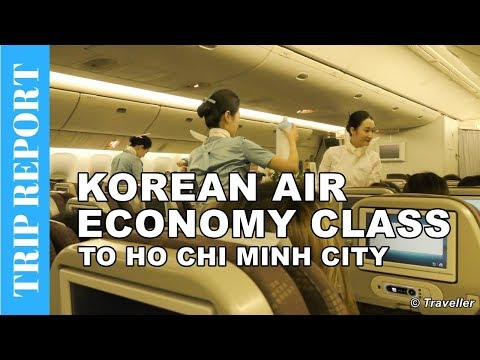 KOREAN AIR ECONOMY CLASS flight to Ho Chi Minh City - Boeing 777 Flight Review