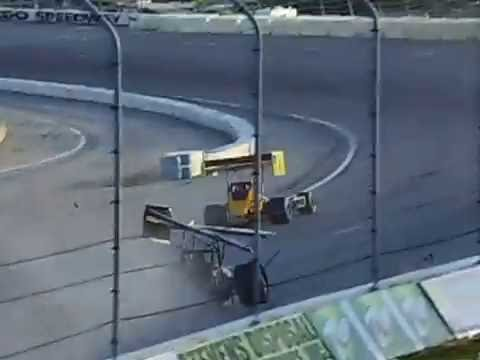 Big Super Modified Crash! Toledo Speedway 6/10/16