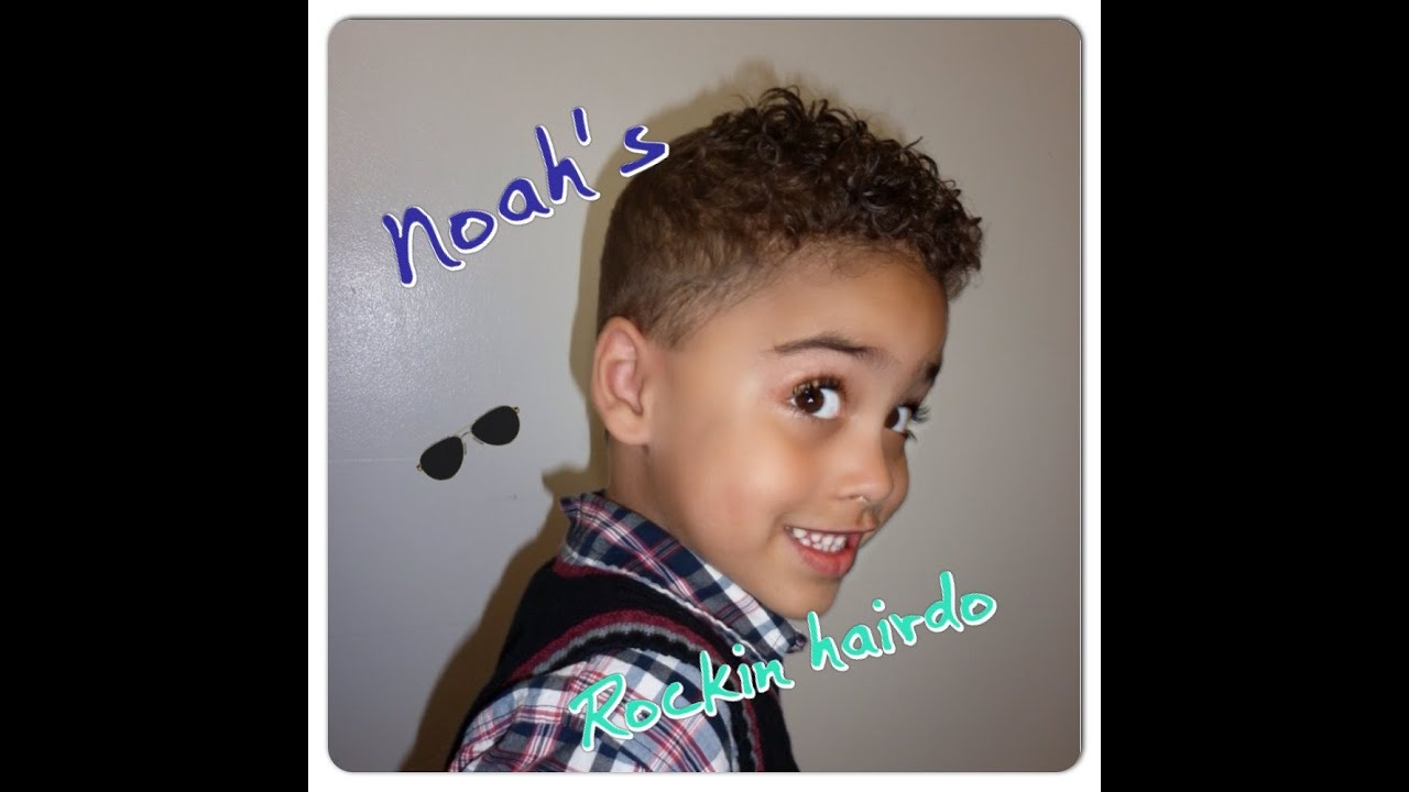 Noah S Rockin Doo A Haircut For Curly Hair Youtube
