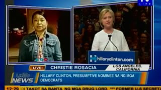 Hillary Clinton, presumptive nominee na ng mga democrats