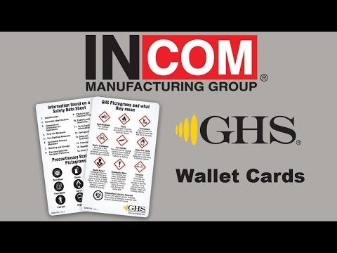 GHS: HazCom 2012 & WHMIS 2015 Pictogram Wallet Card