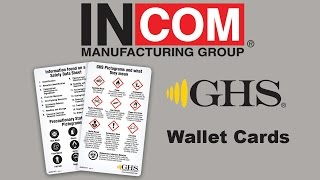 GHS Pictogram Wallet Card
