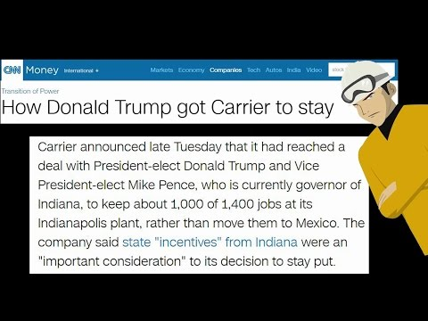 Trump the Job Saver or Crony Capitalist?