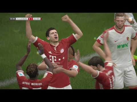 Augsburg vs Bayern Munich HD Gameplay Highlights - FIFA 17