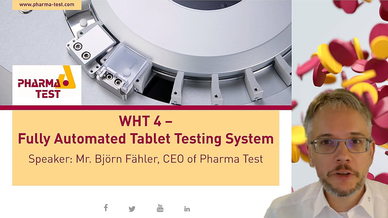 New video presentation of the fully Automated 4 in 1 WHT4 Tablet tester from Pharma Test Germany