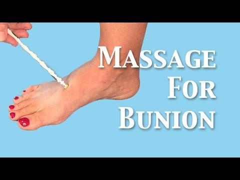 Massage to decrease bunion size