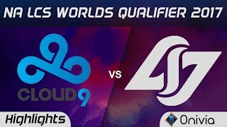 c9 vs clg highlights game 4 na lcs worlds qualifier 2017 cloud9 vs counter logic gaming by onivia