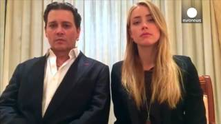 Johnny Depp & Amber Heard apologise for illegally bringing dogs to Australia(Johnny Depp and Amber Heard apologised for bringing their dogs in to Australia and affirmed the importance of the country's biosecurity in a video posted to the ..., 2016-04-18T09:16:30.000Z)
