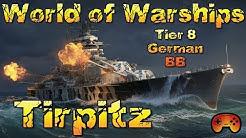 """""""Tirpitz"""" T8 vorgestellt ein Premiumschiff in World of Warships - Deutsch/German"""