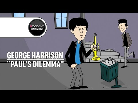 George Harrison Recalls Paul McCartney's Trumpet-Playing Days (Radio.com Minimation)