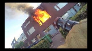 Brandweer PRIO1 Woningbrand Almere