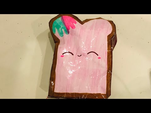 How To Make a 3D Toast Paper Squishy