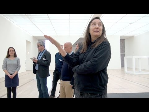 """Jenny Holzer talks about her works in the exhibition """"Black Sun"""""""