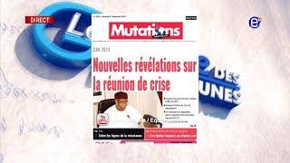 LA REVUE DES GRANDES UNES DU VENDREDI 7 DÉCEMBRE 2018 - ÉQUINOXE TV