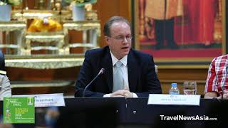 Mekong Tourism Forum 2018 Press Conference with Jens Thraenhart Executive Director MTCO