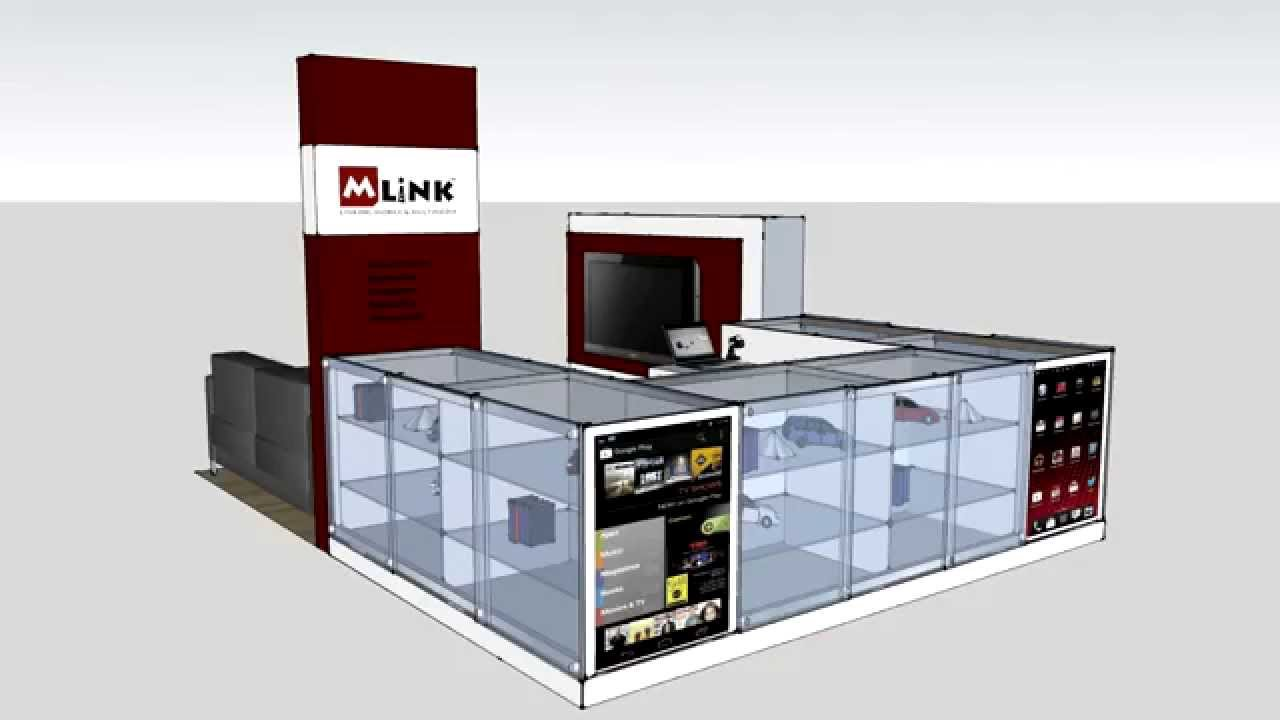 Mlink westfield kiosk design 3d video youtube for Architecture kiosk design