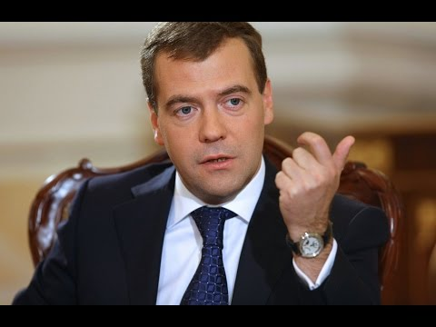 Dmitry Medvedev. Russian Prime Minister corruption scandal.