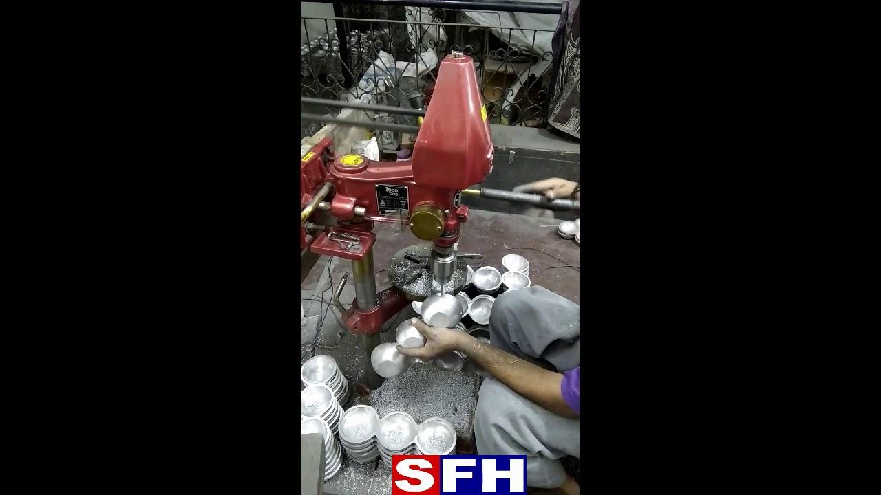 How to drill holes in aluminium tripple bowl