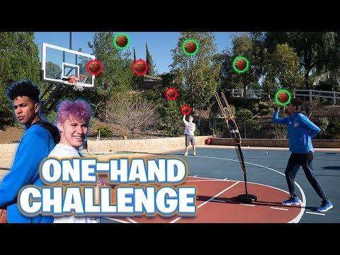 1v1 One-Handed Basketball Challenge vs Jesser - Who's the Best?