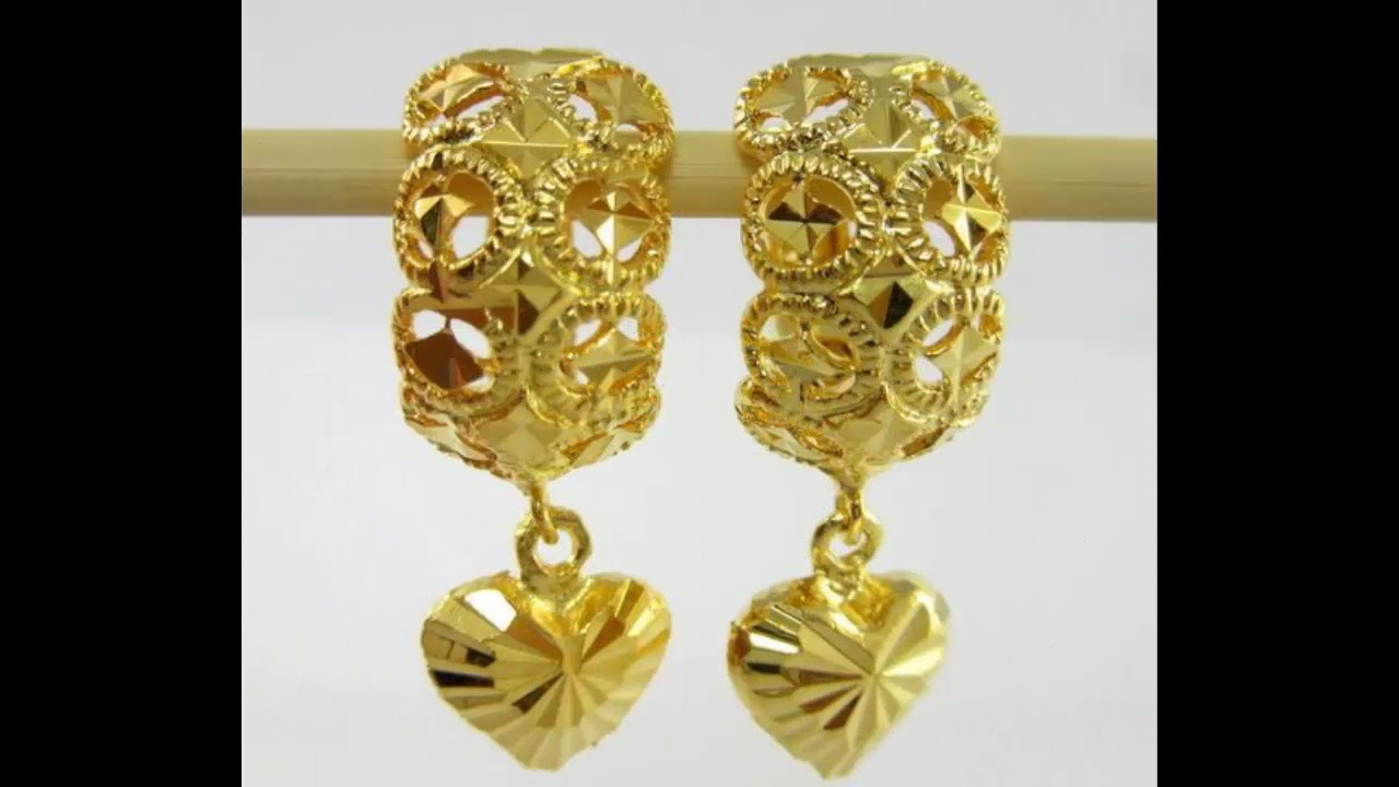 Latest Gold Hoop Earrings Jhumka Designs With Weight And Price