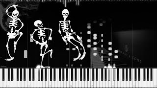 andrew gold spooky scary skeletons ragtime piano