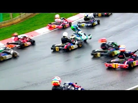 Kids from age 8+ in Great Kart Race show  F1 how to do it... Super 1 Karting 2018: Rd 1, IAME Cadet
