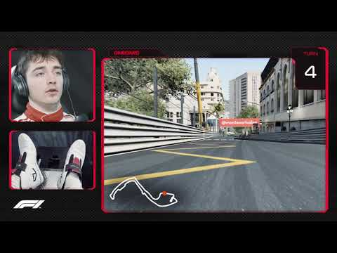 Charles Leclerc's Virtual Hot Lap of Monaco | 2018 Monaco Grand Prix