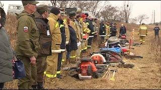 Добровольные пожарные дружины провели весеннюю тренировку