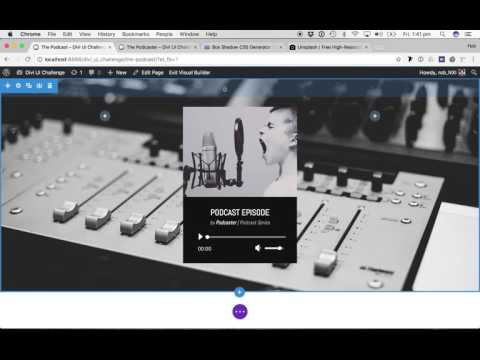 Divi UI Challenge #7 - Podcast Audio Module