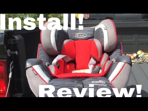 Evenflo Symphony Xl Car Seat Install And Review Youtube