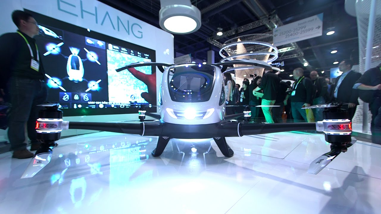 This Autonomous Drone Can Carry A Human CES 2016