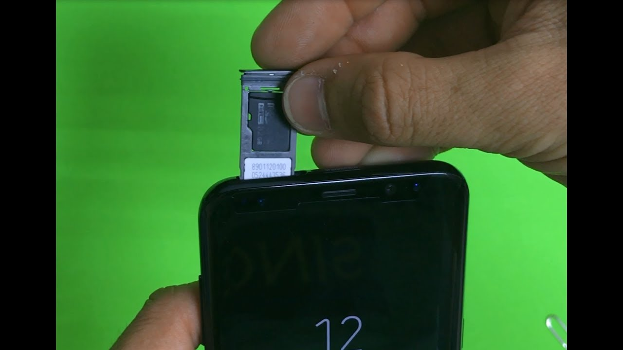 how to get sim card out of samsung s8