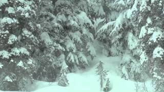 January Powder at the Durrand Glacier Chalet
