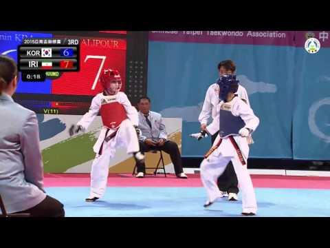 Asian Cadet Taekwondo Championships.  Final Male  -33