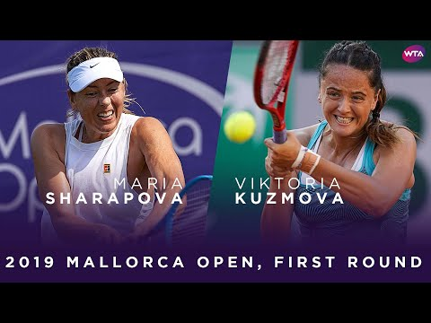 Maria Sharapova Vs. Viktoria Kuzmova | 2019 Mallorca Open First Round | WTA Highlights