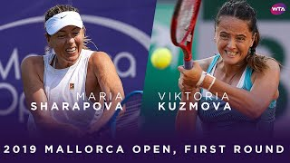 Maria Sharapova vs. Viktoria Kuzmova | 2019 Mallorca Open First Round | WTA Highlights