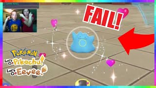 WORST SHINY DITTO FAIL EVER in Pokemon Let's Go Pikachu and Eevee!