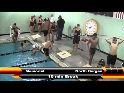 MHS Girls and Boys Swimming vs North Bergen 1/7/16